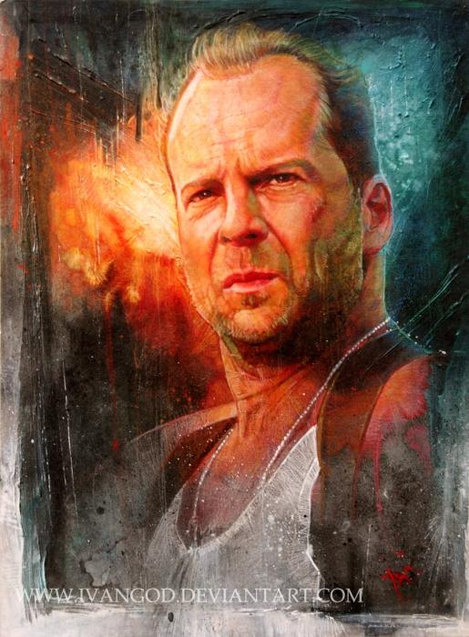 Bruce Willis by ivantao